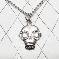 Gas Mask Necklace, inspired by Doctor Who, Are You my Mummy?