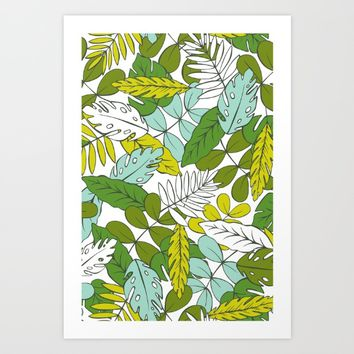 Modern Tropics Art Print by Heather Dutton
