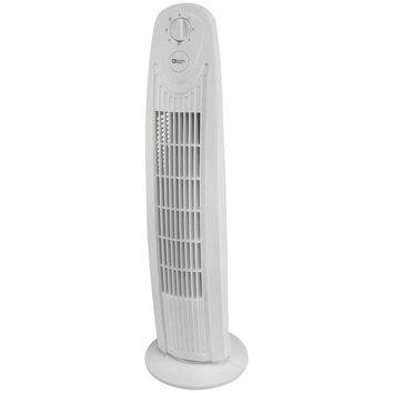 "Comfort Zone 29"" Oscillating 3-speed Tower Fan"