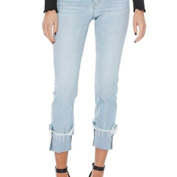 Avery Distressed Cuff Relaxed Jeans