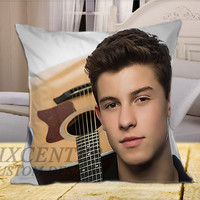 Shawn Mendes Photoshoot on Square Pillow Cover