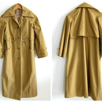 Classic Vintage Tan Trench Coat