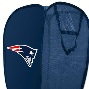 NFL New England Patriots Hamper Football Logo Laundry Basket