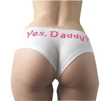 Women Yes Daddy? Underpants Seamless Lingerie Briefs Knickers Underwear Panties 4Colors