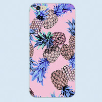 The design of the pineapple and watermelon fruit game phone cases For iphone 4 4s 5 5c 5s 6 6s plus cover shell