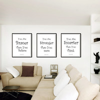 Winnie The Pooh,Set Of three 3, Disney Movie Quotes, Wall Art, decor, decal decals, print, kids room, nursery decors, posters, friendship