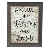 Not All Who Wander Are Lost Framed Wall Art | Shop Hobby Lobby