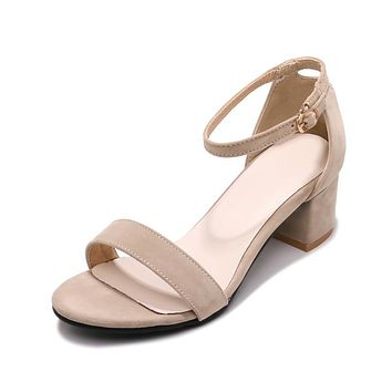 Ankle Strap Mid Heel Sandals Summer Shoes 4553