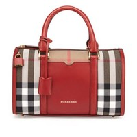 Burberry: Check & Leather Satchel