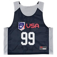 Men's Team USA Personalized Nike Practice Pinnie - ShopUSLacrosse.com