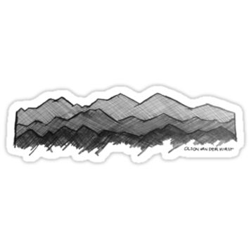 'Mountain Sketch' Sticker by Noble Bison