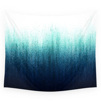 Society6 Teal Ombre Wall Tapestry