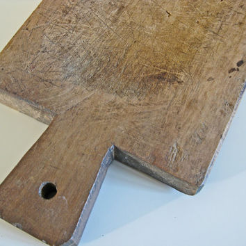 French antique cutting board, primitive wood chopping block