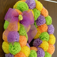 Easter egg wreath-Easter decoration- spring decor- Spring wreath- Egg