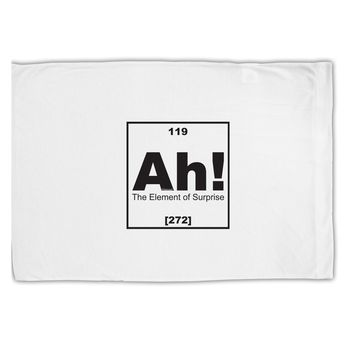 Ah the Element of Surprise Funny Science Standard Size Polyester Pillow Case by TooLoud
