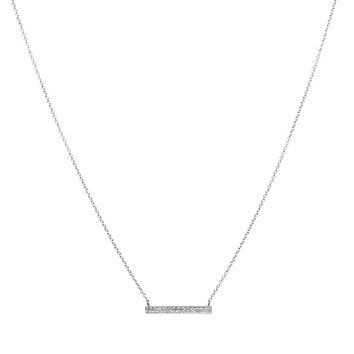 Sylvie Rose Medium Diamond Bar Necklace