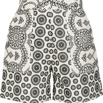 Topshop Unique - Cleary broderie anglaise cotton shorts