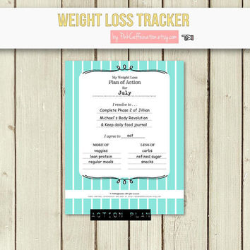 diy weight loss journal / diet  fitness from