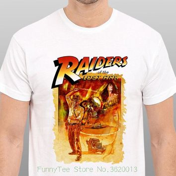 Indiana Jones Raiders Of The Lost Ark Vintage Movie Art T-shirt Size : S - to - xxl
