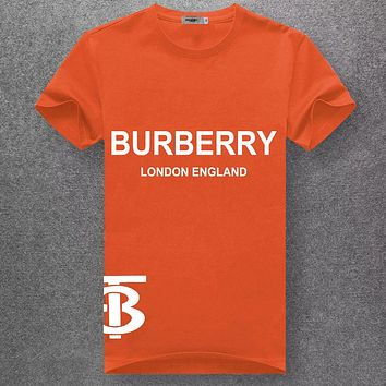 Burberry Casual Simple Women Men Short Sleeve Shirt Top Tee