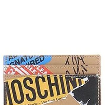 Moschino Package Leather Card Case | Nordstrom