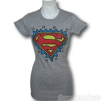 Superman Juniors Explosion Junk Food T-Shirt