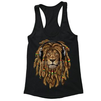 8d1e45bf38730 XtraFly Apparel Women s Lion Rasta Reggae Racer-back Tank-Top