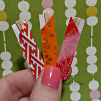 Playscale Miniature Wooden Chopsticks - Pullip Blythe Barbie BJD Food