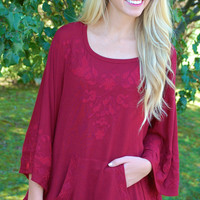 Fall Floral Stitched Poncho