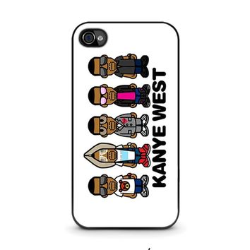 kanye west iphone 4 4s case cover  number 1