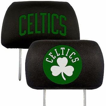 Boston Celtics 2-Pack Auto Car Truck Embroidered Headrest Covers