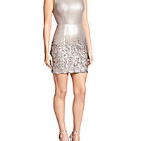BCBGMAXAZRIA - Sequined Open-Back Sheath - Saks Fifth Avenue Mobile