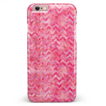 Pink Basic Watercolor Chevron Pattern iPhone 6/6s or 6/6s Plus INK-Fuzed Case
