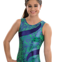 Shocking Lace Scoopback Tank Leotard from GK Elite