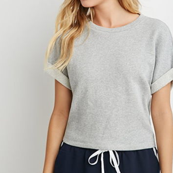 Cuffed French Terry Pullover