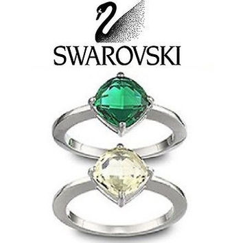 Swarovski LEA EMERALD Pair of Rings