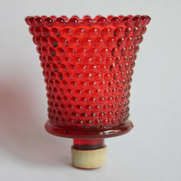Incroyable Red Hobnail Votive Candle Cup For Candle Holder Or Sconce, Vintage Glass  HOMCO Home Interiors