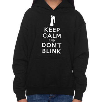 "Children's Doctor Who ""Weeping Angel""Hoodie (SM-XL)"
