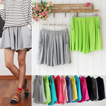 Fashion women shorts skirts 2016 New cheapest women cotton outerwear short pants casual women loose brand shorts femininos
