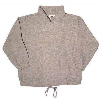 Recycled Fibers Zip Neck Pullover