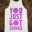 You Just Got Served-Unisex White Tank