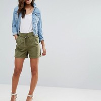 Vero Moda Tall D Ring Cargo Shorts at asos.com