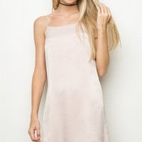 Claire Silky Dress - Brandy Melville
