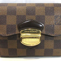 Authentic Louis Vuitton Damier Portefeuille Joey Wallet N60034 F/S from Japan