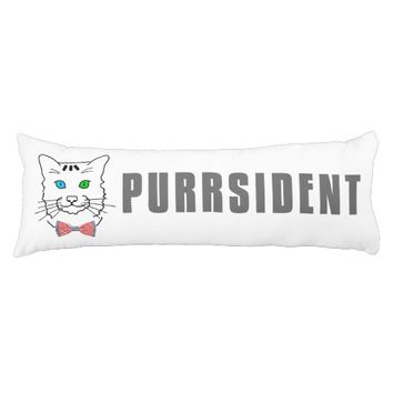 Cat Purrsident Body Pillow