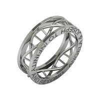 ON SALE Dna ring To infinity and beyond ring in sterling silver metal