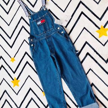 tommy jeans 90s classic logo capsule overall-1