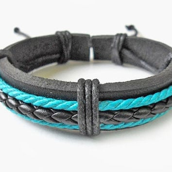 Jewelry bangle leather bracelet ropes Bracelet women bracelet girl bracelet men bracelet made of leather and ropes SH-0235