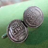 steel penny cufflinks 1943 steelie cuff links by friendlygesture
