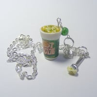 Pot Noodle Miniature Food Necklace Pendant   Miniature by NeatEats